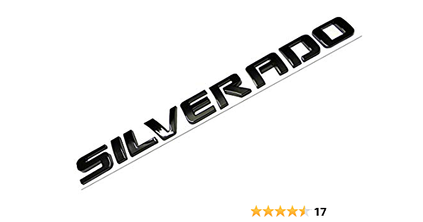 2Pcs Set Letter Silverado Puls LT Letter Emblem Badge Nameplate Replacement for Silverado 1500 2500Hd 3500HD Black