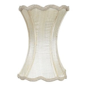 Jubilee Collection 3610 Scallop Hourglass Shade, Medium, Ivory