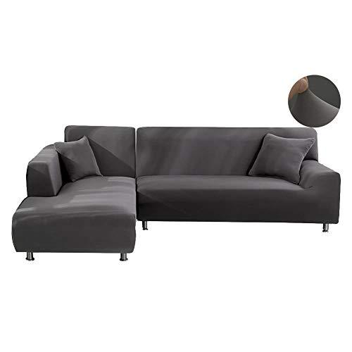WOMACO L Shape Sofa Covers Sectional Sofa Cover 2 pcs Stretc