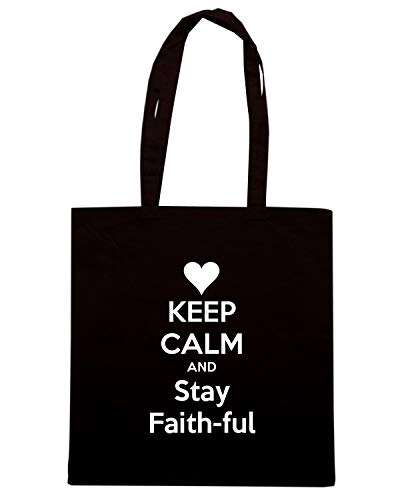 CALM STAY Shirt TKC0718 Shopper FUL Nera Borsa Speed KEEP FAITH AND HqfAwFF