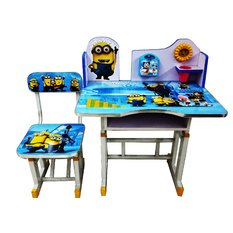 Olly Polly Minions Kids Study Table desk computer chair Set: Amazon ...