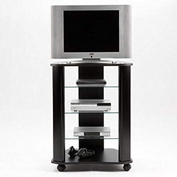 Miroytengo Mesa para TV con Ruedas y estantes de Cristal fijos Estilo Tradicional Color Negro 60x45x79 cm: Amazon.es: Juguetes y juegos