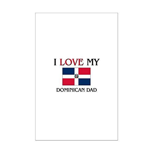(CafePress I Love My Dominican Dad Mini Poster)