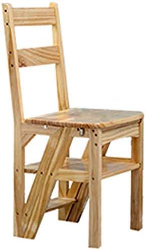 STOOL Escalera de mano Inicio Taburetes de escalera, taburete de escalera Asientos de silla de escalera Escalera de madera Escalera de tijera Escalera de estantería plegable de 4 escalones Escalera d: Amazon.es: