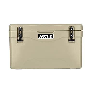 Driftsun Arctik Series 40 Quart Ice Chest / Heavy Duty Cooler / Military-Grade Nylon Rope Handles (Tan)