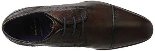 Daniel Hechter 812302011100, Zapatos de Cordones Derby para Hombre Marrón (Dark Brown)