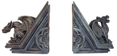 Gothic Gargoyle Sculptural Bookends Book Ends