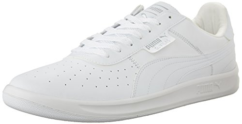 PUMA Men's G. Vilas L2 Sneaker,White/Metallic Silver,11 D US (Sport White Footwear Leather)