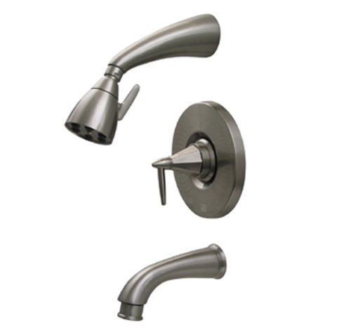 Orb Pressure Balance Shower - Whitehaus 614.855PR-ORB Blairhaus Monroe 2 5/8-Inch Pressure Balance Valve with Showerhead and Octagon-Shaped Lever Handle, Oil Rubbed Bronze