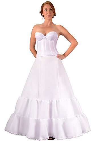 Bridal Dresses Plus Size Petticoat Crinoline Slip for Wedding Dress Ball Gown, Made in USA by Undercover Bridal. Proper Tulle Fullness Makes Optically Smaller Waist and Prevents Costly Hem Alterations. Give Your Dress the Shape it Needs - Buy Now!