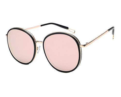 Mujeres Hombres al la moda Gafas Protección Marco aire de viajar UV400 sol libre sol de decoración para de Guay Gafas Golden de pesca redondo Huyizhi de wER055