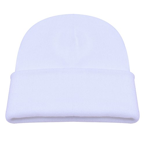 PZLE Mens Winter Hat White Beanie Skull Hat Beanie Cap Men Hats Men Beanie  White  Amazon.in  Clothing   Accessories 11a3480aaff