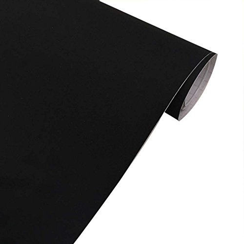 Self Adhesive Velvet Flock Contact Paper Liner for Jewelry Drawer Craft Fabric Peel and Stick Black, Soft Velvet Liner for Drawer DIY 17.7'' x 117'' by Walldecor1 (Image #3)