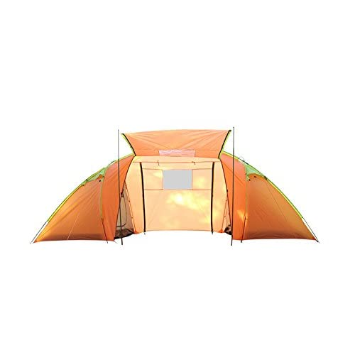 HONEYY Piscine deux chambre et un salon tente de camping manuellement 4 personne anti-moustiques imperméable tourisme tente de camping (140+200+140 *210*200 cm)