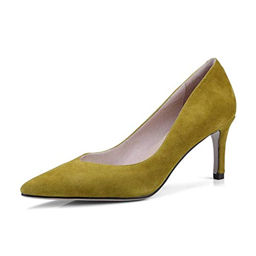 MENGLTX High Heels Sandalen Hochwertige Lederne Schuhe Spitze Frauenpumpen Flache Mode Party Schuhe Dünne High Heels Schuhe Frau B07QLVQD18 Sport- & Outdoorschuhe Am wirtschaftlichsten