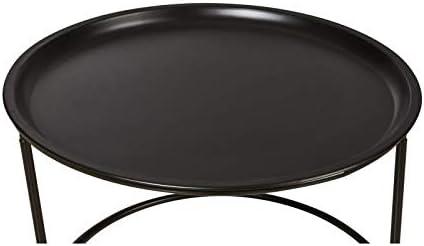 Noir 56cm x 37.5cm x 56cm Table basse en m/étal