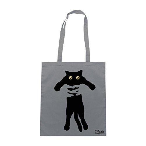 Borsa BAD CAT - Grigio - DIVERTENTE by Mush Dress Your Style