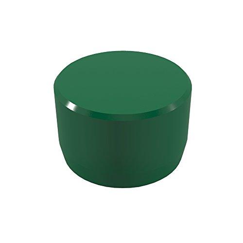 "FORMUFIT F012EEC-GR-10 PVC External End Cap, Furniture Grade, 1/2"" Size, Green"