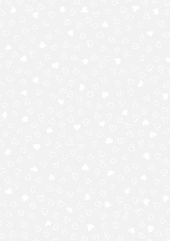 Transparentpapier / Pauschpapier HERZEN - weiß (A4 - 21, 0 x 29, 7 cm / 115 g - 25 Blatt) TOP QUALITÄT Heyda