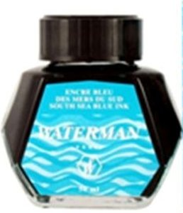 Waterman Fountain Pen, 50 ml Bottle, Blue (51060W7)