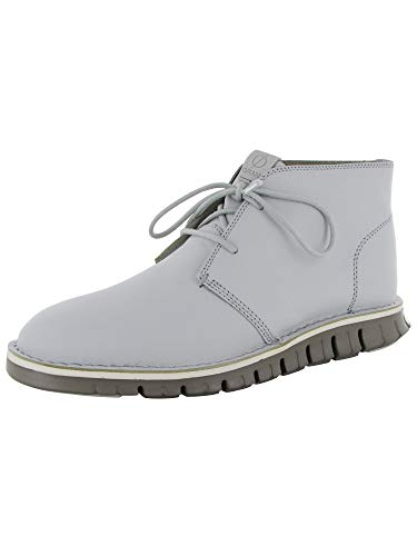 Cole Haan Men Zerogrand Stitch Out Chukka Leather Boot, Vapor Grey/Rock, US 8 (Vapor Shafts)