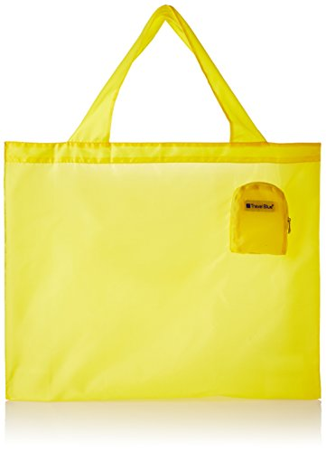 Travel Blue Polyester Yellow Tote Bag