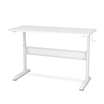 DEVAISE Adjustable Height Standing Desk 55 Inch with Crank Handle,1 unit per box - 18 boxes/Pallet