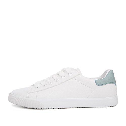patín color white 34 las fondo plano de bajo de mujeres deporte Atlética zapatillas tacón de sólido las de NSX Casual de cordones con 1PqZx