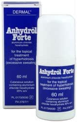 Anhydrol Forte for Excessive Sweating 60ml Roll on 60ml 12pc / Box