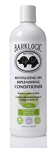 BarkLogic Revitalizing Spa Replenishing Conditioner, Lime, 16 fl oz - Grooming Essentials for A Healthy Coat - No Parabens, No Phthalates, No Sulfates, No DEA & PEG, Hypoallergenic, Vegan