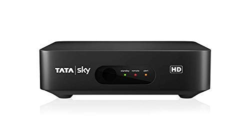 TATASKY HD Set Top Box with Secondary Connection (Black and White)