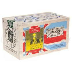 The Metropolitan Tea Company 62WD-618B-088 Cream Earl Grey 25 Teabags in Wood Box