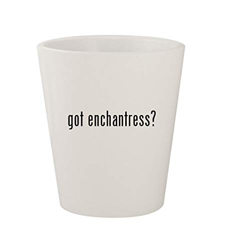 got enchantress? - Ceramic White 1.5oz Shot Glass