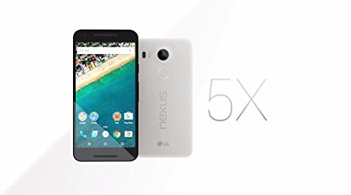 LG Nexus 5X Unlocked Smart Phone, 5.2″ Quartz White, 16GB Storage, US Warranty (Certified Refurbished)