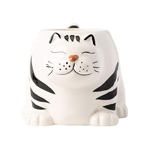 Decorative 3D Kitten Mug - Large Ceramic Cat Mug for Coffee, Tea, Hot Cocoa & More - Novelty Gift for Cat Lovers - Dishwasher &