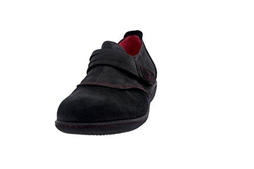 Calzado mujer confort de piel Piesanto 3552 zapato casual cómodo ancho Negro