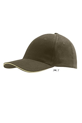 Sols - Buffalo - 6 Panel Baseballcap , Army / Beige , UNIQUE one size,Army / Beige
