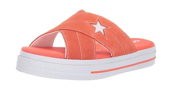 Converse Women's One Star Suede Slip Sandal, Turf Orange