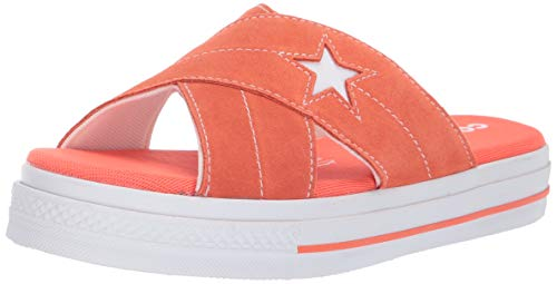 - Converse Women's One Star Suede Slip Sandal, Turf Orange/Egret/White 7.5 M US