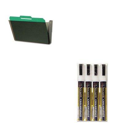 KITDEF73202DEFSMA510V4WT - Value Kit - Deflect-o DocuPocket Stackable Wall Pocket (DEF73202) and Securit Liquid Chalk Marker (DEFSMA510V4WT) -