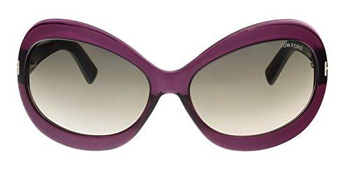 Tom Ford Sonnenbrille Edie (FT0428) 81T: Transparent Violet