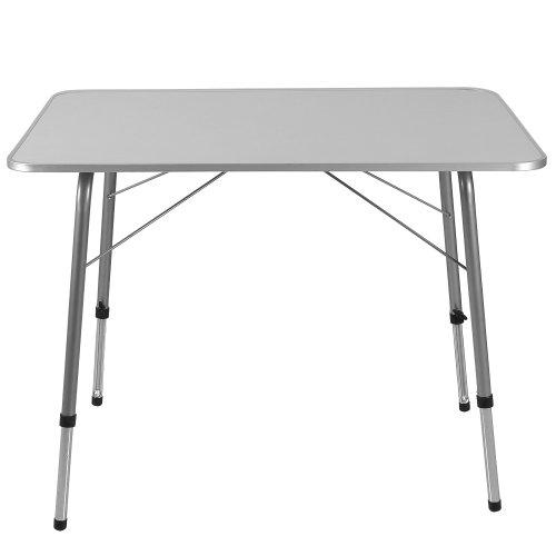 Table Pliante Reglable En Hauteur.Deuba Table De Camping 80x60cm Reglable En Hauteur Aluminium Blanc Table De Jardin Terrasse
