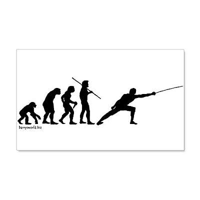 CafePress Fencing Evolution 22X14 Wall Peel 20x12 Wall Decal, Vinyl Wall Peel, Reusable Wall Cling