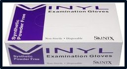 Skintx Powder-Free Vinyl Exam Gloves Small Case
