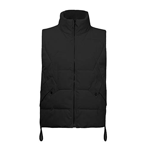 Gergeos Women Packable Lightweight Down Vest Fashion Outdoor Puffer Vest Winter Sleeveless Outwear Sport Coat(Black,XL) by Gergeos