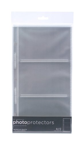 - 6 x 12-inch 3-Ring Album Page Protectors by American Crafts | Includes 10 sheets