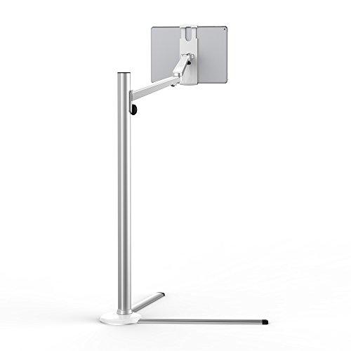 Viozon Tablet Floor Stand, Holder for iPad ,Applicable to3.5~6inch smart phone and 7~13 inch tablet such as iPad, iPhone X, iPad Pro,iPad mini, iPad Air 1-2 / iPad 2-4 / Galaxy Tab S (PAD-UAFS)