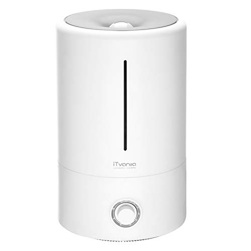 iTvanila Cool Mist Humidifier, Humidifiers for Bedroom Large Room,4L Ultrasonic Humidifier with Whisper-Quiet, Auto Shut-Off & Last 15-40 Hours Working Time from iTvanila