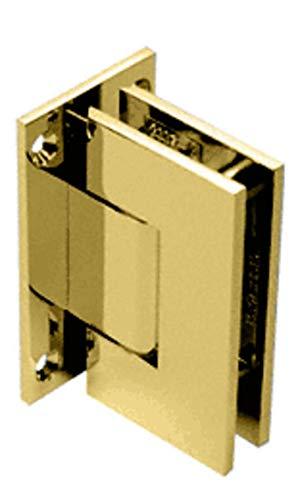C.R. LAURENCE V1E337BR CRL Brass Vienna 337 Series Adjustable Wall Mount Full Back Plate Hinge