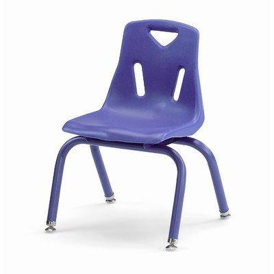 Jonti-Craft Berries Plastic Kids Chair w Powder Coated Legs in Purple (14 in. H - Purple)